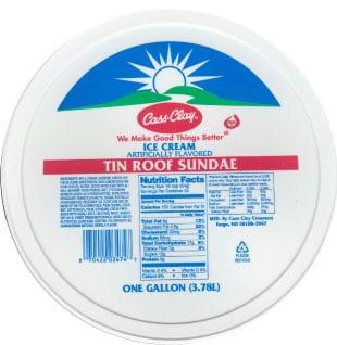 (4 qt.) Tin Roof Sundae Reduced Fat Ice Cream