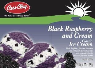 (56 oz.) Black Raspberry and Cream Ice Cream
