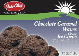 (56 oz) Chocolate Caramel Waves Ice Cream